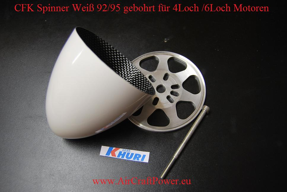 Premium CFK Spinner in Weiß ø 98/106 mm